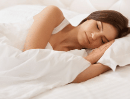 woman sleeping in peace and quiet