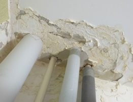 water damage caused by pipes
