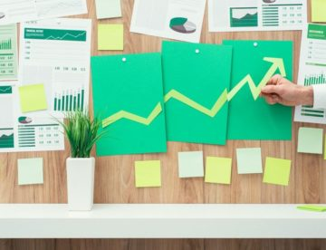 analytics showing business trends