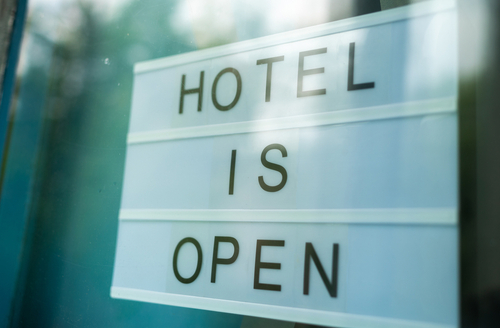 communicating a hotel reopening